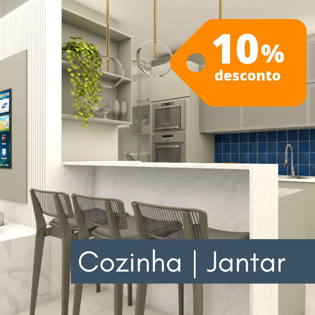 Cozinha e sala de jantar - Decoração Online